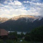 Blick vom Visionshaus auf die Berner Alpen